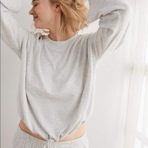 NWOT Aerie Plush Drapey Sweatshirt, Small
